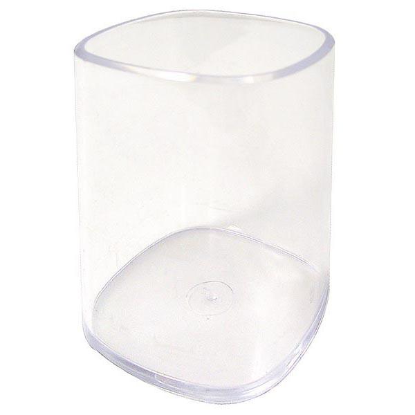Portapenne a bicchiere - 6,5x6,5x9,5 cm - trasparente - Arda
