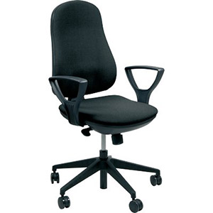 Sedia ergonomica chachacha Ergosit - nero - SUPRAER/C11 NERO - Ufficio.com