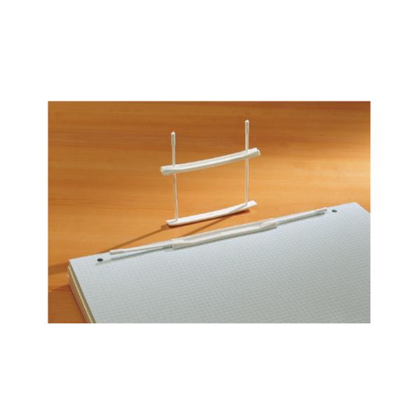 Fastener fermafogli - plastica - passo 80 mm - capacità 6 cm - bianco - Fellowes - conf. 100 pezzi