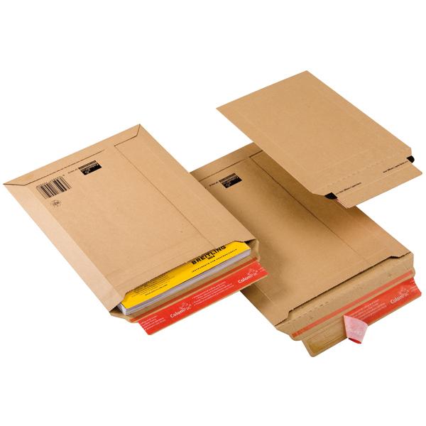 Busta a sacco CP 010 in cartone - adesivo permanente - formato A4+ (235x340 mm) - altezza massima 35 mm - ColomPac®
