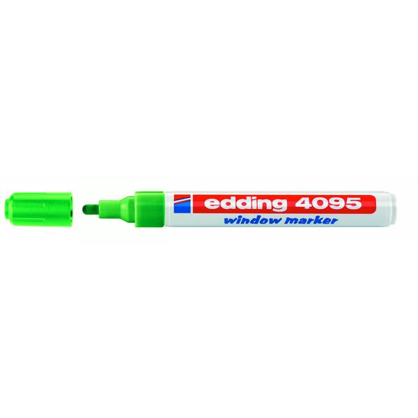Marcatore gesso liquido 4090 - verde - punta conica da 2,0 a 3,0mm - Edding