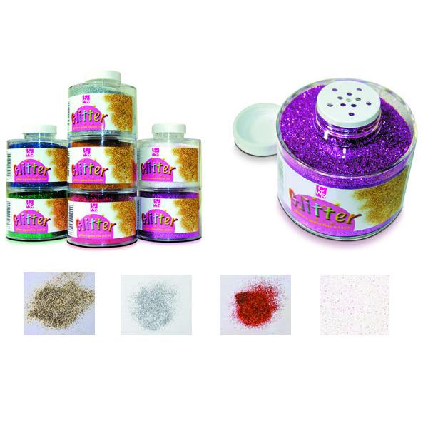 Barattolo Glitter 130/100 - grana fine - 150ml -  argento - CWR