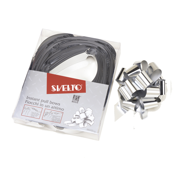 Nastro Svelto Strip Reflex Metal - argento 19 - diametro 120mm - 30mm - Bolis - scatola 30 nastri