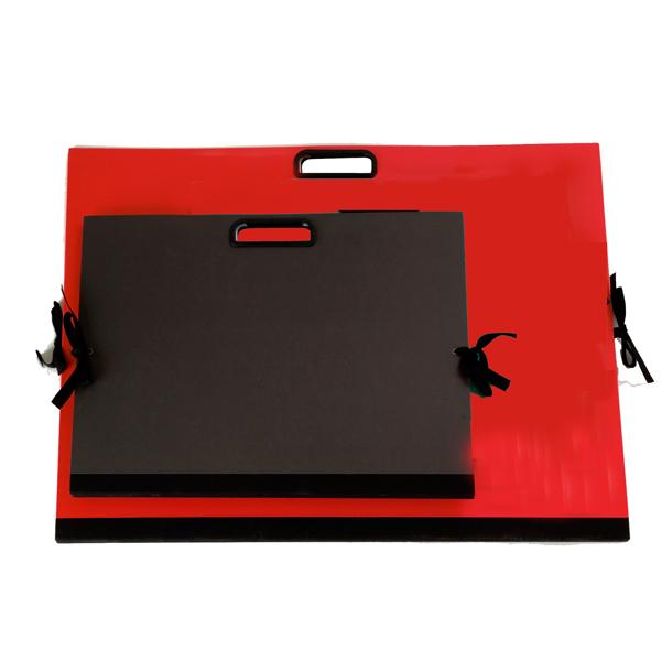 Cartella portadisegni - con maniglia - 35x50 cm - rosso - Brefiocart