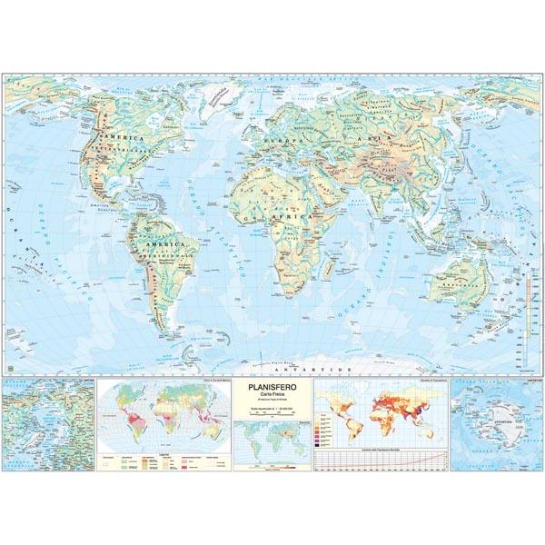 Cartina Fisica Italia Leggibile.1pz Carta Geografica Mondo Scolastica Murale Belletti