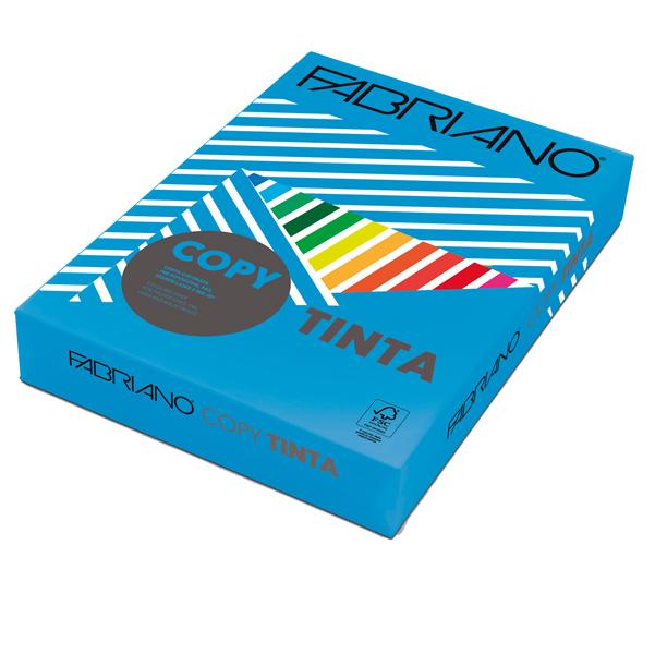 Carta Copy Tinta - A3 - 80 gr - colori forti azzurro - Fabriano - conf. 250 fogli