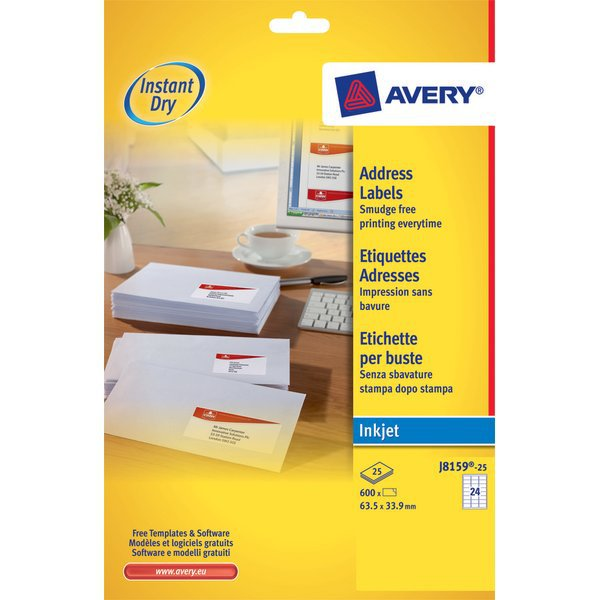 Etichette QuickDry per indirizzi