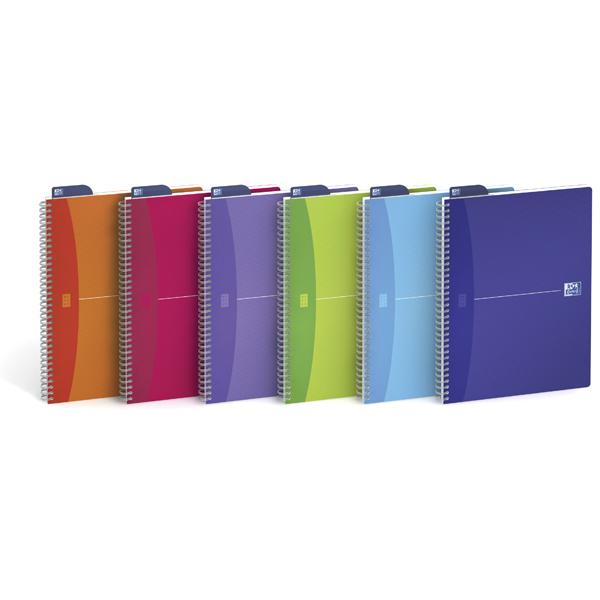 Quaderno spiralato My Colors - 5mm con margine - 210 x 297mm - 90gr - 90 fogli - Oxford