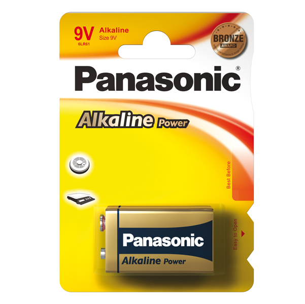 Pila Transistor - 9V - alcalina - Panasonic - blister 1 pezzo