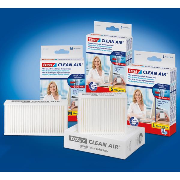 Filtro Clean Air per stampanti e fax - 14x7 cm - Tesa