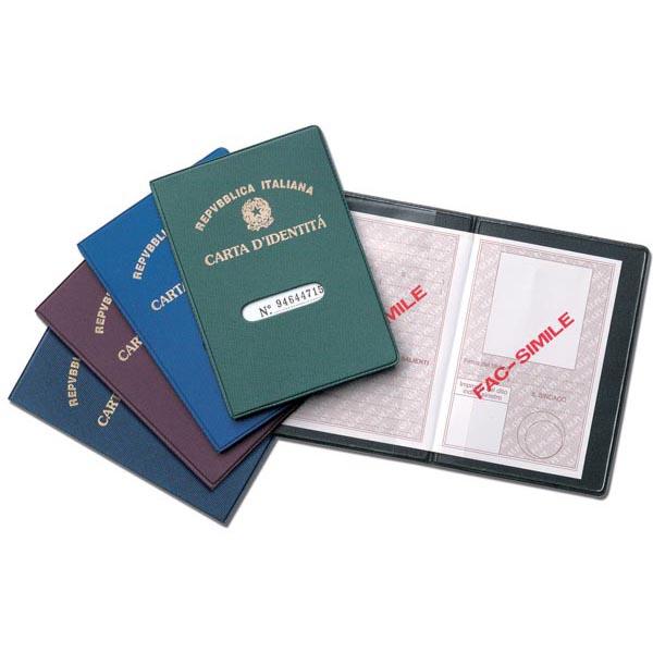Porta carta d\identità - con stampa - Alplast - conf. 24 pezzi