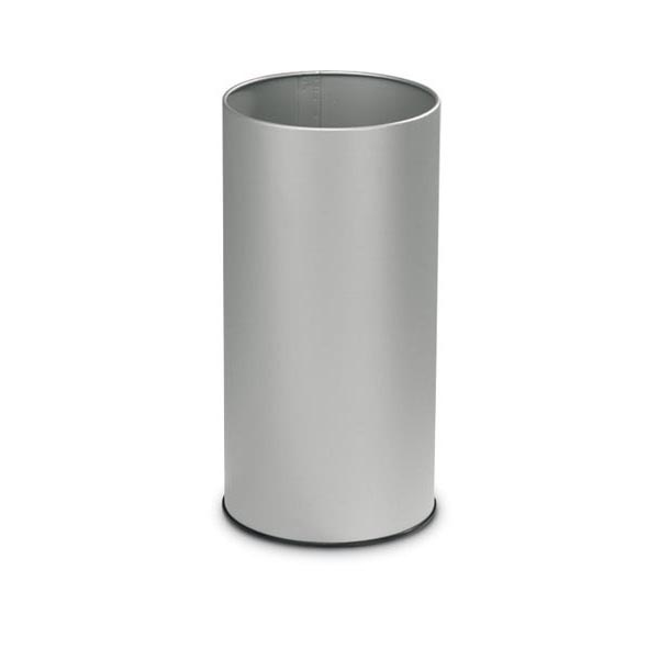 Portaombrelli tondo - 20 litri - metallo - diametro 24 cm - altezza 49 cm - grigio - Stilcasa
