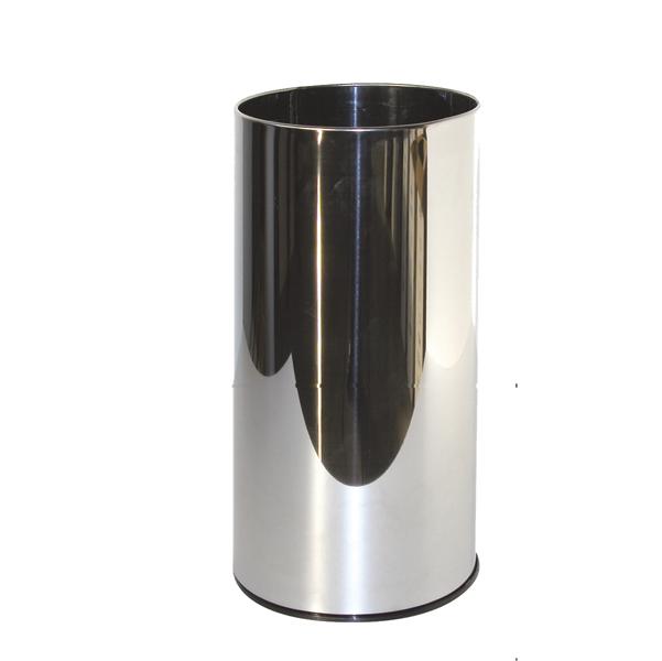 Portaombrelli tondo - metallo - diametro 24 cm - altezza 49 cm - 20 litri - inox - StilCasa