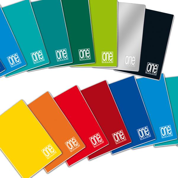 Maxiquaderno One Color - A4 - quadretto 5mm con margine - 18 fogli - 100gr - Blasetti