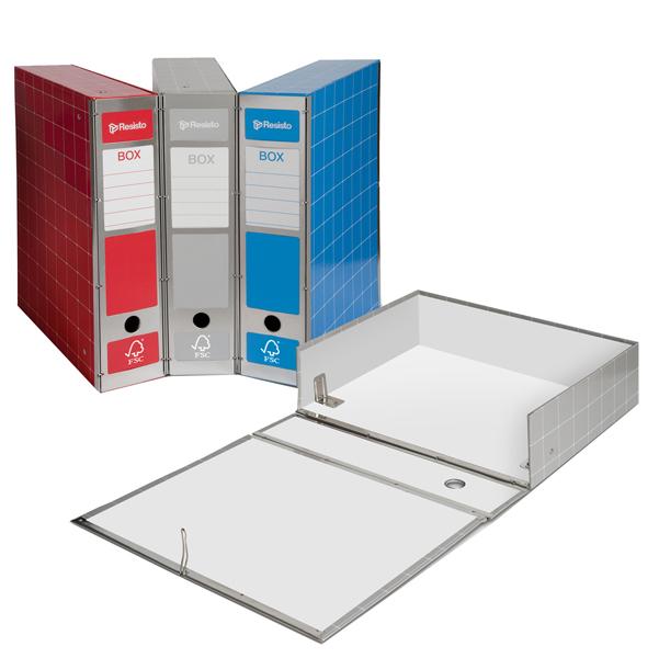 Scatola archivio Box4 - dorso 9 cm - 37,5x29,5 cm - grigio - Resisto