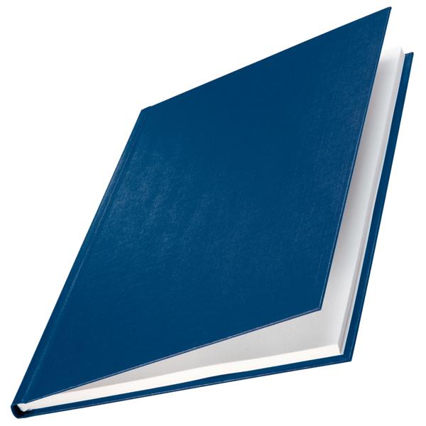 Copertine Impressbind - rigide - 3,5 mm - finitura lino - blu - Leitz - scatola 10 pezzi