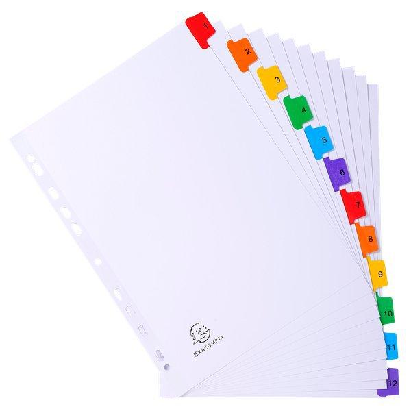 Divisori in cartoncino con tasti stampati