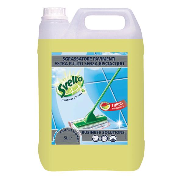 Sgrassatore per pavimenti - limone - Svelto - tanica da 5 L