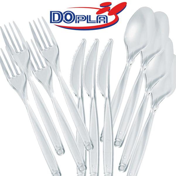 Forchette Diamant - monouso - trasparente - polistirene - Dopla - conf. 50 pezzi