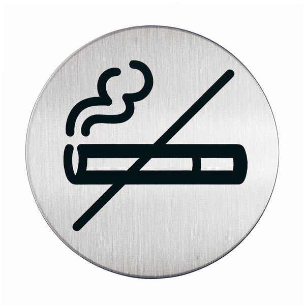 Pittogramma adesivo - Zona non fumatori - acciaio - diametro 8,3 cm - Durable