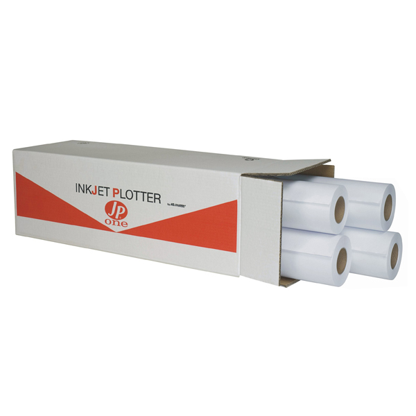Carta plotter inkjet JP One P.90M - 914 mm x 50 mt - 90 gr - opaca - bianco - As Marri