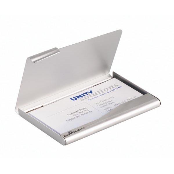 Porta biglietti da visita Business Card Box - 9x5,5 cm - alluminio - Durable
