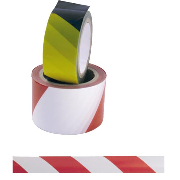 Nastro adesivo di sicurezza - 50 mm x 25 mt - rosso/bianco - Viva