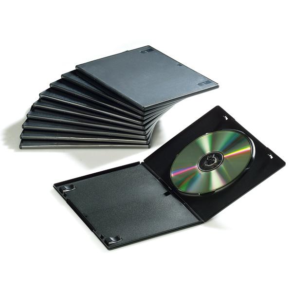 Custodia Slim per DVD - nero - Fellowes - scatola 10 pezzi