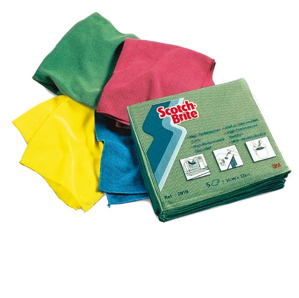 Panno in microfibra Scotch Brite® 2010 - 36x32 cm - rosso - sanitari - Scotch Brite®