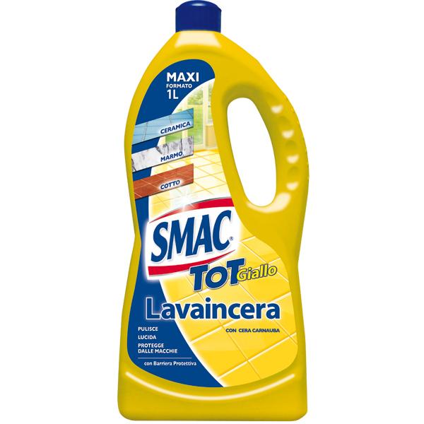 Smac Tot Giallo Lavaincera per pavimenti - cera di Carnauba - 1 L - Smac