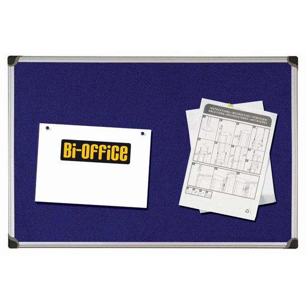 Pannello Maya Felt Board - feltro blu - 60x90 cm - Bi Office