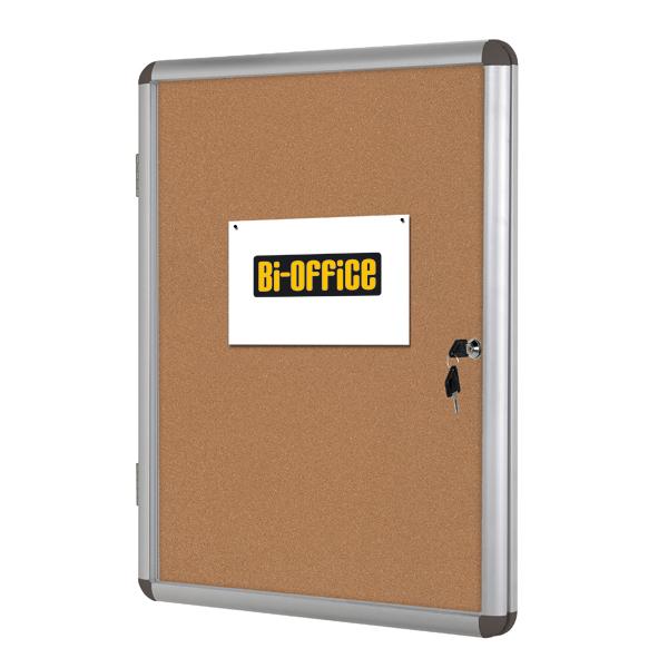 Bacheca per interni - fondo in sughero - 4 fogli A4 - verticale - Bi-Office