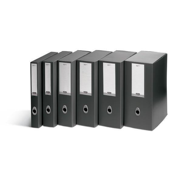 Scatola progetto Plus Vip - 34,5x24,5 cm - dorso 15 cm - grigio antracite - Fellowes