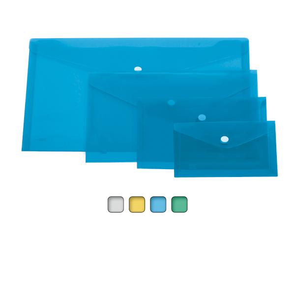 Busta con bottone - formato orizzontale - 33,5x23,5 cm - colori assortiti - Lebez