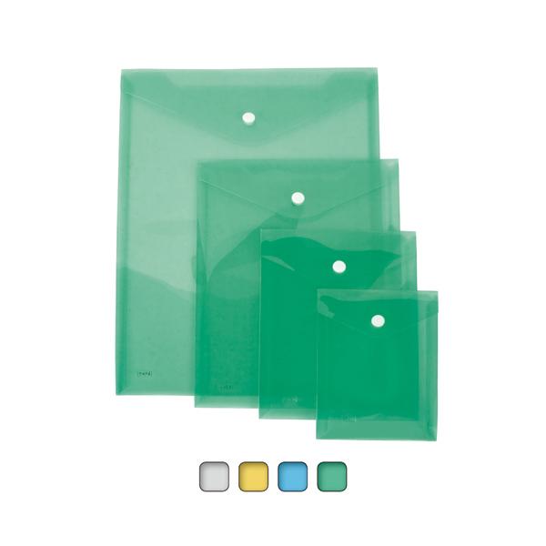 Busta con bottone - formato verticale - 18x25 cm - colori assortiti - Lebez