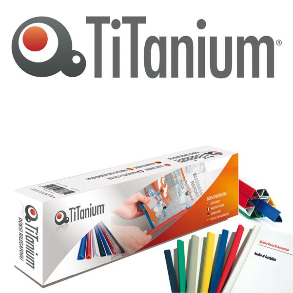 Dorsi per rilegatura - 4 mm - blu - Titanium - scatola 50 pezzi