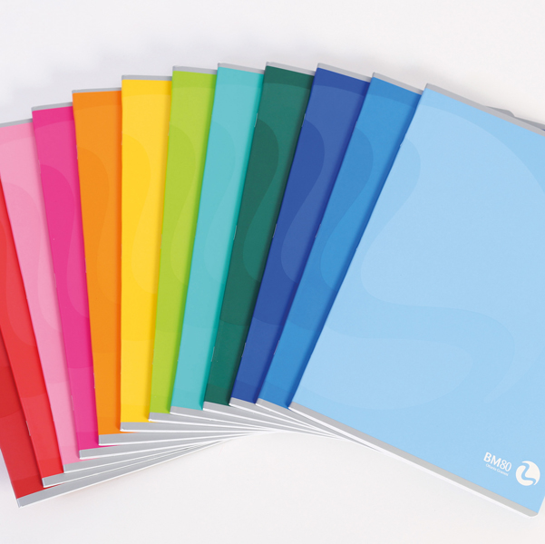 Maxiquaderno Color 80 Basic - A4 - quadretto 5mm con margine - 80 fogli - 80gr - BM