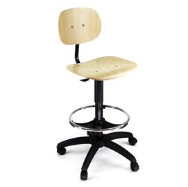 Seduta tecnigrafo - multistrato - con ruote - faggio - Unisit