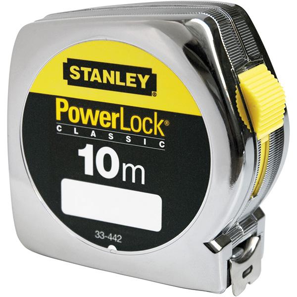 Flessometro PowerLock - 10 mt - metallo - Stanley