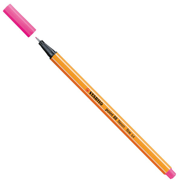 Fineliner Point 88  - tratto 0,4mm - rosa neon - Stabilo