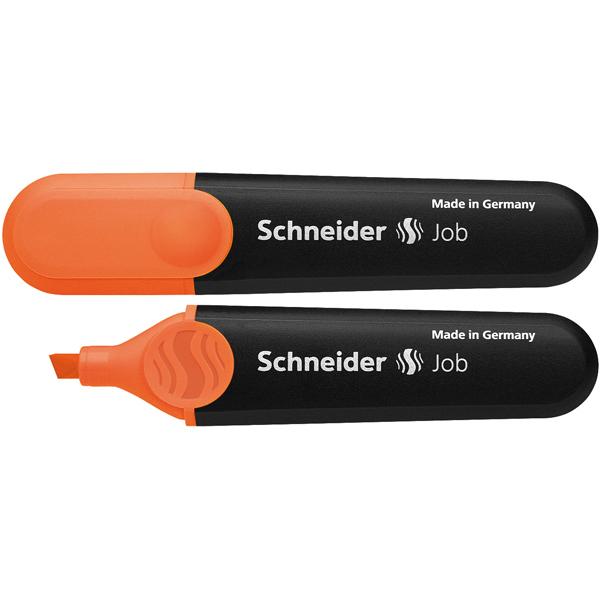 Evidenziatore Job - punta a scalpello - tratto da 1,0-5,0mm - colore arancio  - Schneider