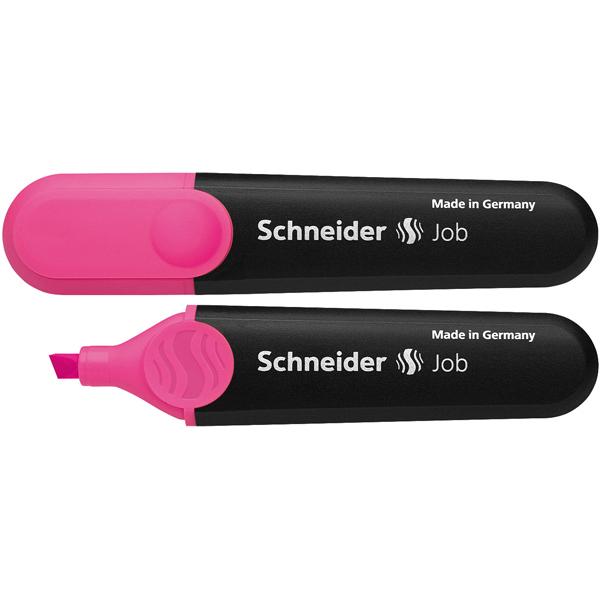 Evidenziatore Job - punta a scalpello - tratto da 1,0-5,0mm - colore rosa  - Schneider