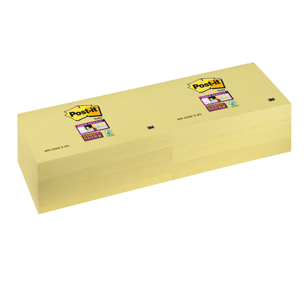Blocco Post it® Super Sticky giallo Canary