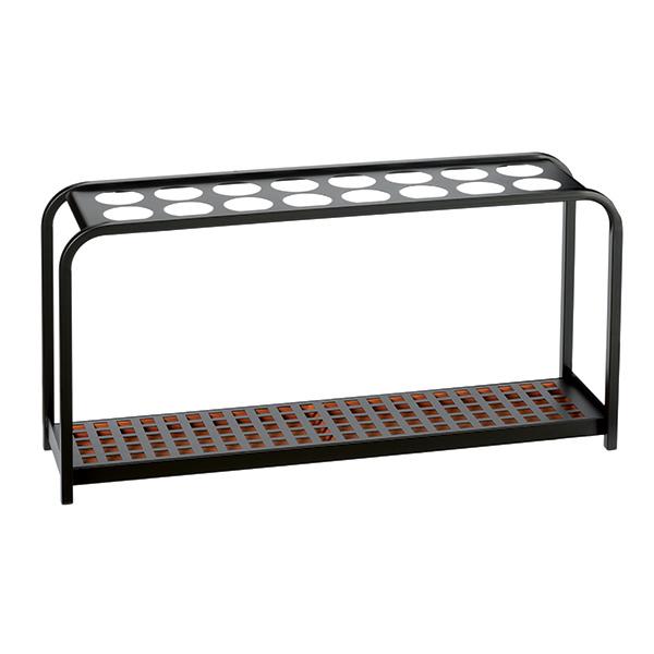 Portaombrelli Multi - 16 posti - 100,2x26x52,5 cm - nero/acciaio - Medial International
