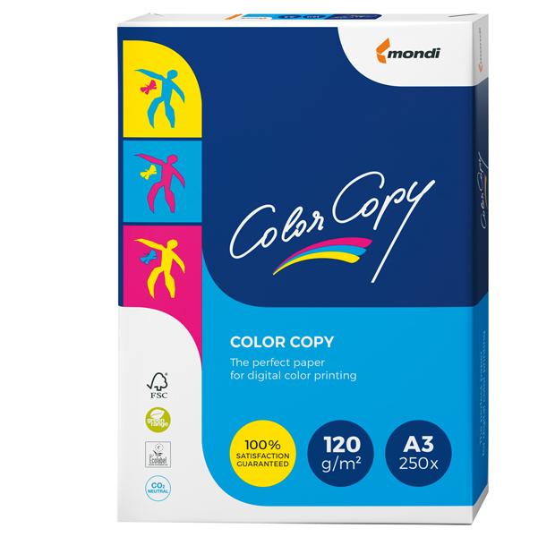 Carta Color Copy - A3 - 120 gr - bianco - Mondi - conf. 250 fogli