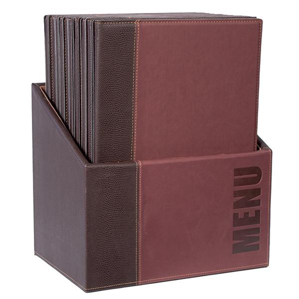 Menu Box Trendy - 20 Portamenù - bordeaux - Securit