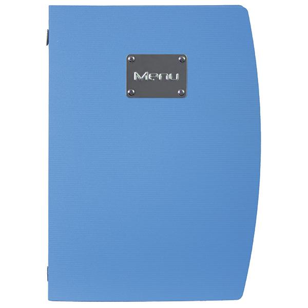 Portamenù Rio - A4 - 24x34 cm - blu - 1 inserto doppio incluso - Securit