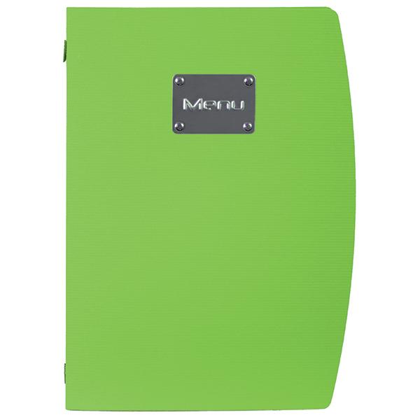 Portamenù Rio - A4 - 24x34 cm - verde - 1 inserto doppio incluso - Securit