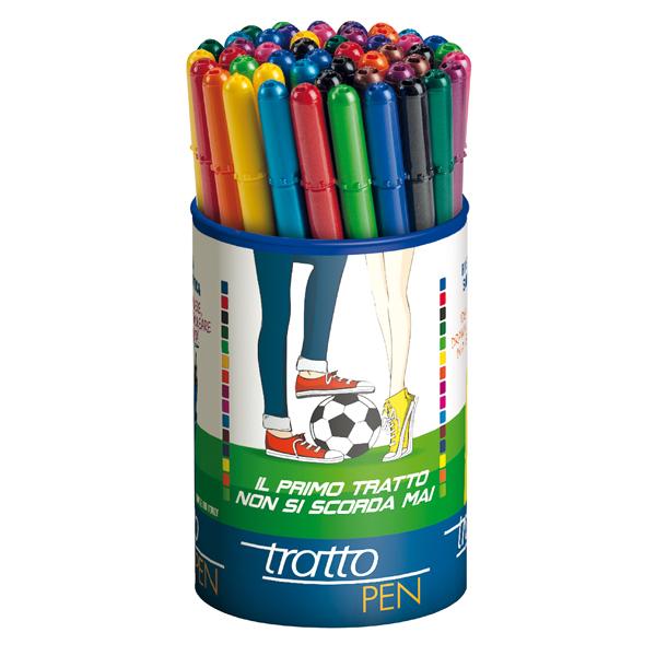 Pennarello fineliner Tratto Pen - tratto 0,5mm - colori assortiti - Tratto - busta 50 pennarelli
