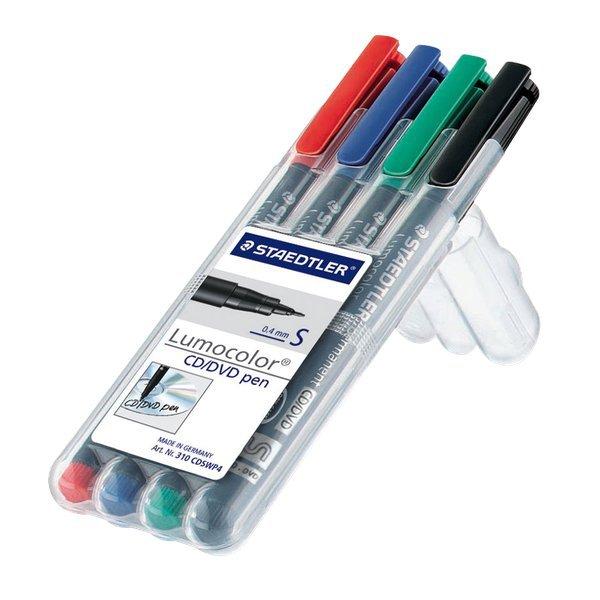 Penna a punta sintetica Lumocolor  CD/DVD